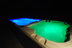 swim spa night LED's