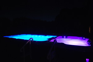 swim spa night lights