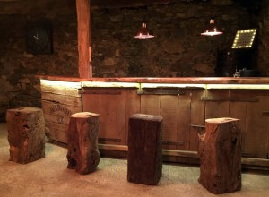 Bar in the newly renovated 15th Century Barn.